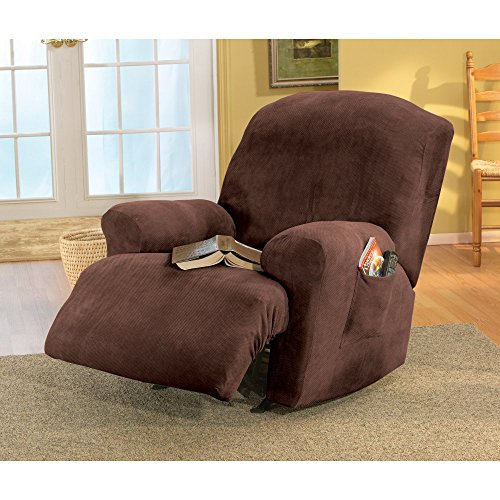 Sure Fit Stretch Pique - Recliner Slipcover  - Chocolate (SF35105) (Recliner Cycle compare prices)