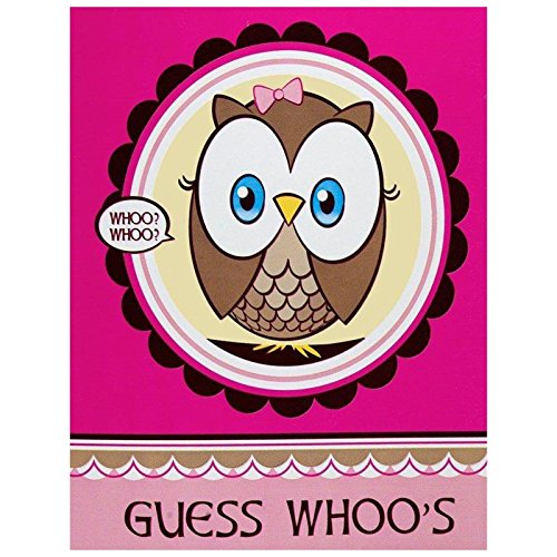 Owl Party Look Whoo's 1 Pink Invitations (8) - 1