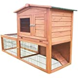 Bunny Business Rabbit Hutch with Integrated Run and Enclosure