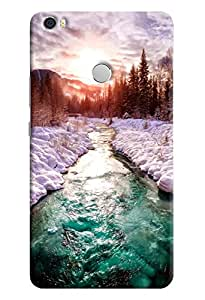 Omnam Melted Ice Roads To Sun Printed Designer Back Cover Case For Xiaomi Mi Max