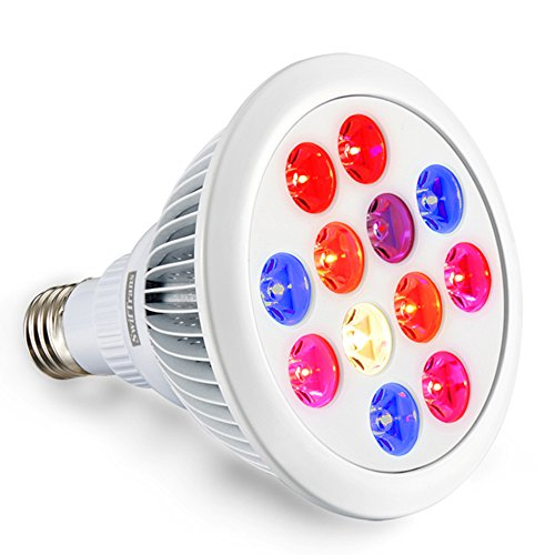 Best Deals! LED Grow Light bulb, Swiftrans 24W Full Spectrum High Efficient Hydroponic Plant Grow Li...