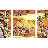 """Ravensburger 28950 - Geheimnisvolles �gypten - Malen nach Zahlen Premium Triptychon, 80 x 50 cmvon """"Ravensburger"""""""