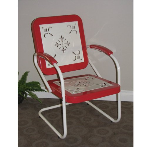 """Metal Retro Chair (Yellow) (35.5""""H X 22.5""""W X 27""""D) front-298888"""