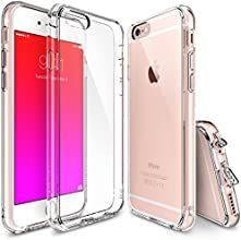 iPhone 6 / 6S Case - Ringke FUSION ***All New Shock Absorption Technology*** [FREE Bonus HD Screen Protector Included][CRYSTAL VIEW] Crystal Clear Shock Absorption TPU Bumper Drop Protection Premium Clear Hard Back [Scratch Resistant][Active Touch Technology] for Apple iPhone 6S (2015) / 6 (2014)