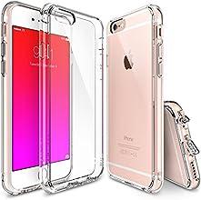 iPhone 6 / 6s Funda - Ringke FUSION Funda para Protección Gota y Choque Absorción Funda de Parachoques con GRATIS Protector de pantalla, color CrystalView