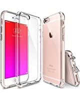 iPhone 6S Plus / 6 Plus Case - Ringke FUSION ***All New Shock Absorption Technology*** [FREE Bonus HD Screen Protector Included][CRYSTAL VIEW] Crystal Clear Shock Absorption TPU Bumper Drop Protection Premium Clear Hard Back [Scratch Resistant][Active Touch Technology] for Apple iPhone 6S Plus / 6 Plus - Eco/DIY Package