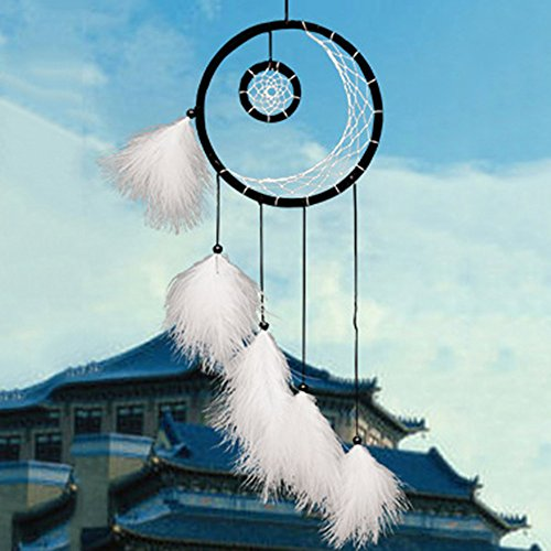 Fashionwu Dream Catcher with Feathers Wind chime Hanging Decoration