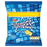 Walkers Squares Crunchy Salt & Vinegar Flavour Potato Snack 48 x 27.5gram