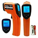 Nubee® FDA Approved Non-contact Infrared (IR) Thermometer (-58F to 932F) w/ Laser Sight MAX Display and Emissivity Adjustable