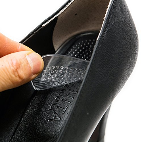 footinsole Shoes Inserts for Heels - Transparent Massage Gel Cushion Pad - Relief from Foot Pain (1 pair)
