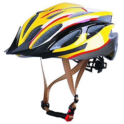 Cycling Bicycle Mens Womens boys girls Bike Helmet Size in yellow size 52-56cm by Powerbank2013