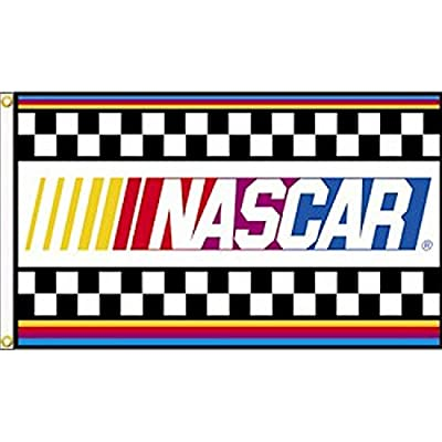 Nascar With Stripes 3 X 5 Single Sided Banner Flag