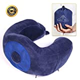 NEW MULTI-FUNCTION DESIGN U - Shaped Neck Pillow - The Best Memory Foam Travel Neck Pillow - Ideal For Sleeping, Driving, Flights, Work & More - Contour Neck Pillow For Men & Women
