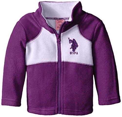 US Polo Association Baby-Girls Polar Fleece Jacket, Purple/Lavender, 24