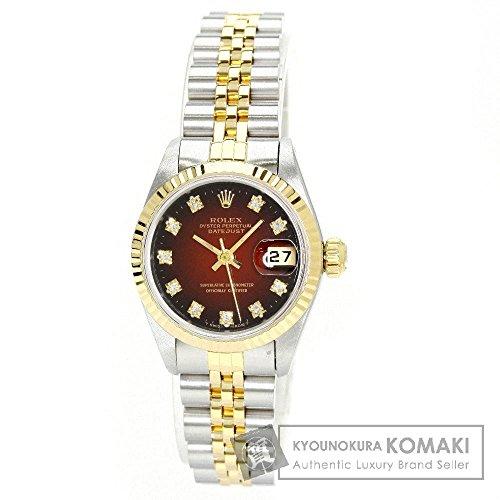 ROLEX(ロレックス) 69173G 旧型 デイトジャスト 10Pダイヤモンド 腕時計 SS/SSxGP レディース (中古)