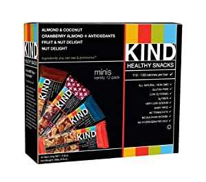 KIND Minis Variety Count, 0.8 Ounce, 12 Count
