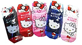 Sanrio Hello Kitty Girls Socks (3pairs) - Hello Kitty 3pc Assorted Socks