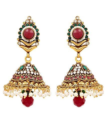 Akshim Multicolour Alloy Earrings For Women - B00NPYBT3K