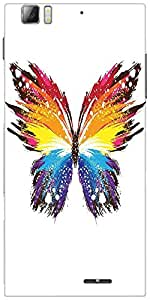 Snoogg Butterfly Graphic Colourful Designer Protective Back Case Cover For Le...