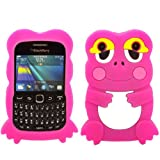 Frog Silicone Case Cover Skin For Blackberry Curve 9220 9320 / Pink