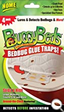 BuggyBeds Home Glue Traps (4 Pack) - Early Detector for Bed Bugs