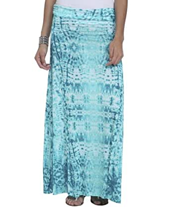 Wet Seal Women's Cloud Foldover Maxi Skirt XL Mint