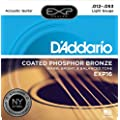 D'Addario EXP16 EXP Coated Phosphor Bronze Light  (.012-.053) Acoustic Guitar Strings