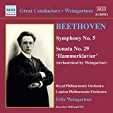 Symphony No. 5, Sonata No. 29 'hammerklavier' (Weingartner)by London Philharmonic...