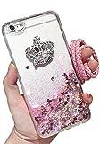 (ポルトプエルト) Porto Puerto iPhone7 iPhone6 Plus ケース カバー スパンコール ラメ ハート クラウン シリコン 透明 クリア パープル ピンク ブルー ホワイト 液体 スノードーム ( iPhone 6/6 Plus/6s/6s Plus ) (iPhone 6/6s, ピンク)