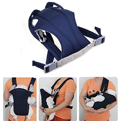 tongshi Infant Baby Carrier Newborn Kid Wrap Zaino Comfort Sling (blu)