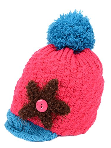 Simplicity Toddler Kids Knitted Winter Hat Warm Beanie Cap with Plush Lining