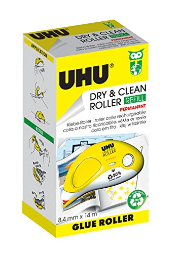UHU D1675 Dry&Clean Colle Roller Ricaricabili