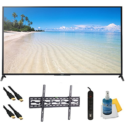 "70"" 1080P 120Hz Smart 3D Led Hdtv Wifi Plus Tilt Mount Hookup Bundle Kdl70W850B. Bundle Includes Tv, Tilting Tv Mount, 3 Outlet Surge Protector W/ 2 Usb Ports, 2 -6 Ft High Speed Hdmi Cables, Performance Tv/Lcd Screen Cleaning Kit, And Cleaning Cloth."