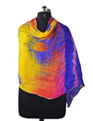 Taffeta Silk Multi Tie & Die Hand Work Indian Veil ,women/'s Scarves , Dupatta