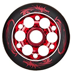 YAK Lisbeth Metal Core Wheel Black-Red 100mm