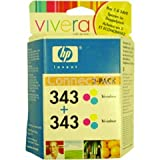HP 343 TRI-COLOUR INKJET PRINT CARTIDGES MULTIPACK (2 COLOUR CARTRIDGES)