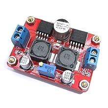 JBtek DC/DC Converter Module Step up and down In 3.5-28V Out 1.25-26V Adjustable (LM2596S+LM2577S)