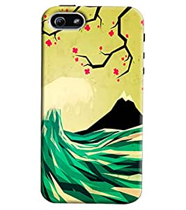 Blue Throat Montain Scenery Printed Designer Back Cover/ Case For Apple iPhone 5s