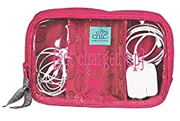 C.R. Gibson Cotton Charger Travel Case, Passion by Iota Chic (ICCC-12745)