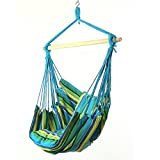 Hanging Hammock Swing by Sunnydaze Decor (Ocean Breeze)