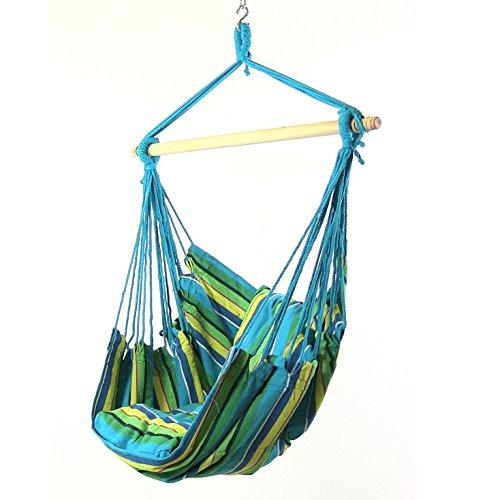 Sunnydaze Hanging Hammock Swing, Ocean Breeze