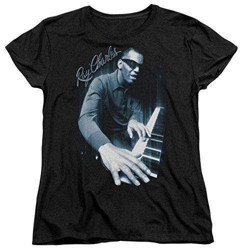 Womens: Ray Charles - Blues Piano Ladies T-Shirt Size XXL