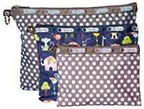 LeSportsac 3 Pack Of Pouches Cosmetic Case (Baby Pin Dot Multi)