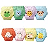 4 X Baby Toddler Girls Cute 4 Layers Waterproof Potty Training Pants reusable (100)