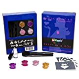 Kit Glimmer Body Art Princess y kit de tatuajes de brillantina profesional