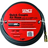 "Senco Quick Couple Air Hose 1/4"" X 100' with 1/4"" MPT ends"
