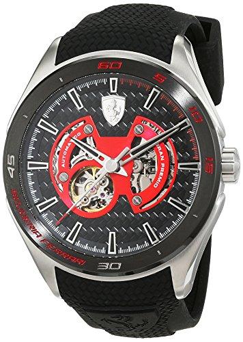 Scuderia Ferrari OROLOGI-Gran Premio-Reloj de pulsera analógico automático para hombre silicona 0830348
