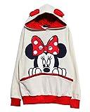 Amoin Fashion Long Sleeve Mickey Hooded Sweatshirt