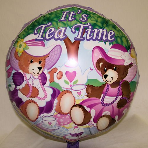 Teddy Bear Tea Party Mylar Balloons