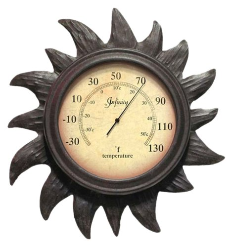 Infinity Instruments Sunny Day Thermomter-Rust Finish